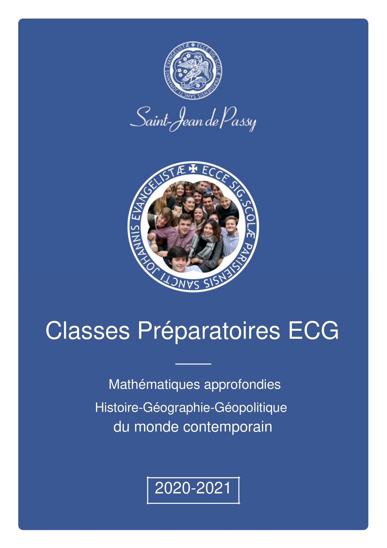 ECG CPGE Saint-Jean de Passy